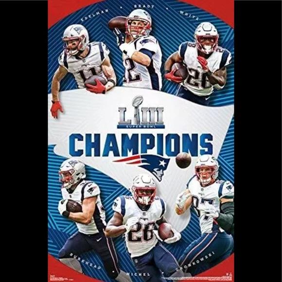 5d6eaafff NFL Other | New England Patriots Super Bowl Liii 23x34 Poster | Poshmark
